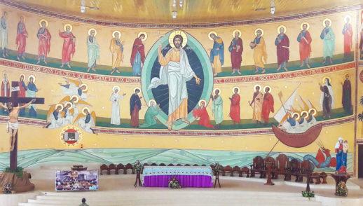 Fresque Paroisse St Laurent Kouté
